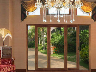 aluminum-wood sliding doors