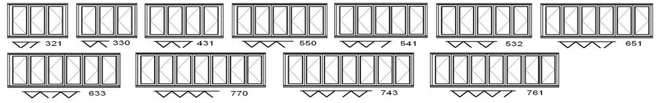 folding sliding door configurations
